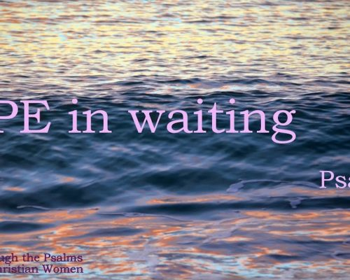Hope in Waiting {Psalm 62}