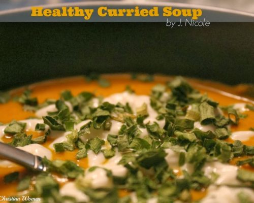 Healthy Curried Carrot Soup Recipe {by J. Nicole}