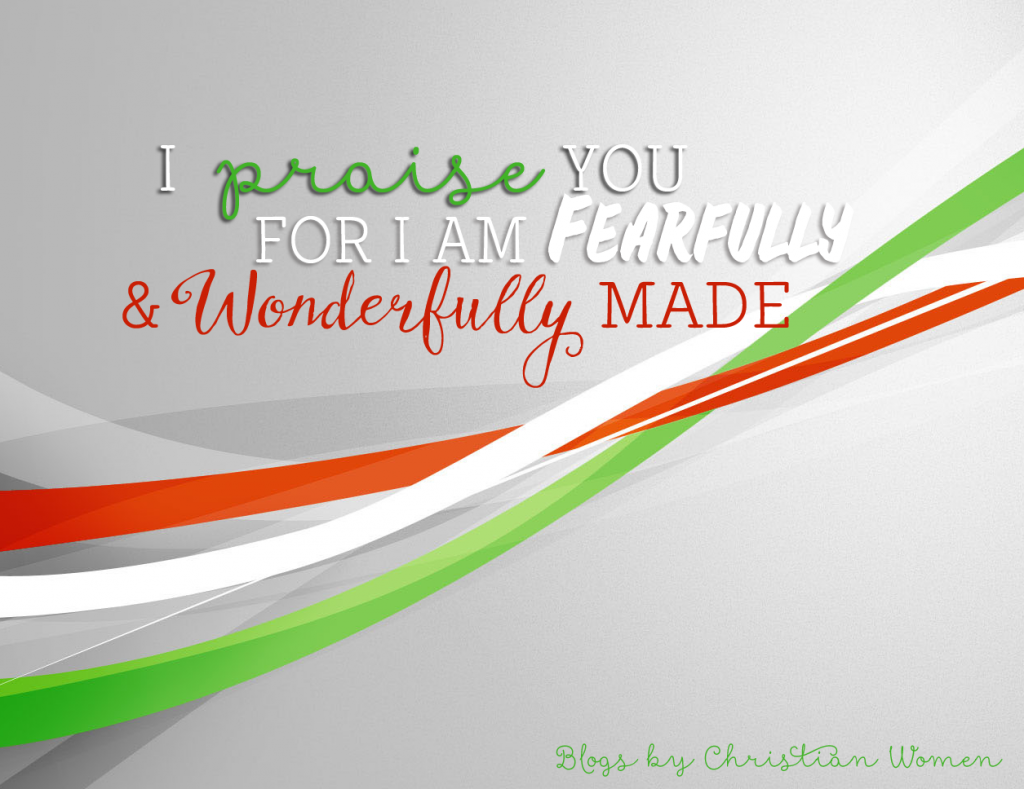 Psalms 139:14 Fearfully and wonderfully made | Blogs by Christian Women