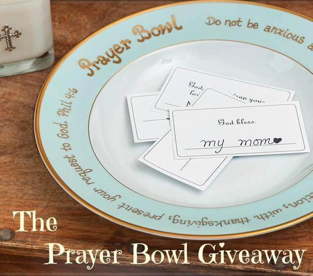 The PrayerBowl Giveaway