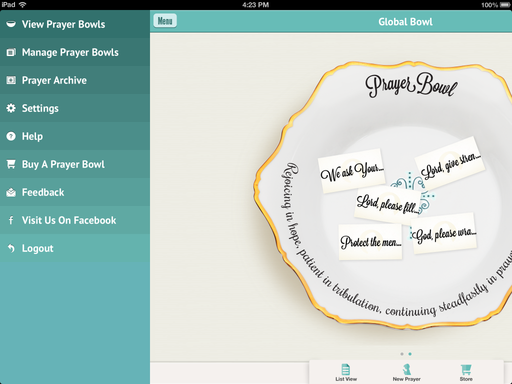 PrayerBowls iPhone App