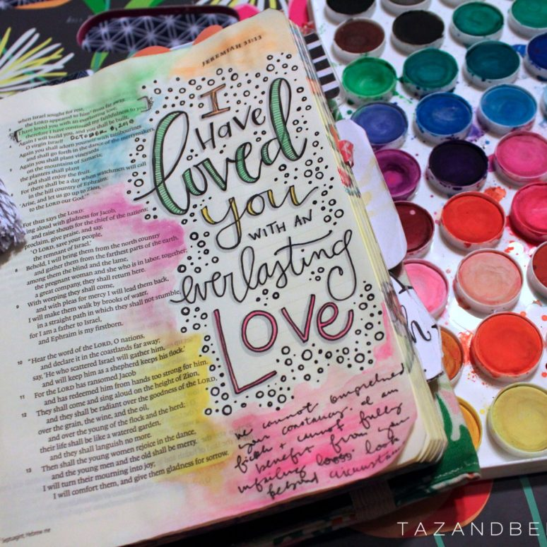 Adding color to Bible journal verses