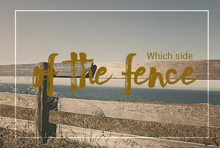 Two sides of the fence
