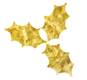 golden holly leaves