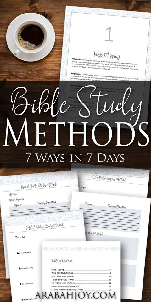 Learn to study the Bible with these 7 study methods
