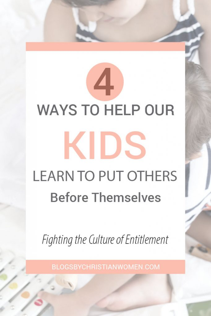 How to help your kids learn to put others before themselves