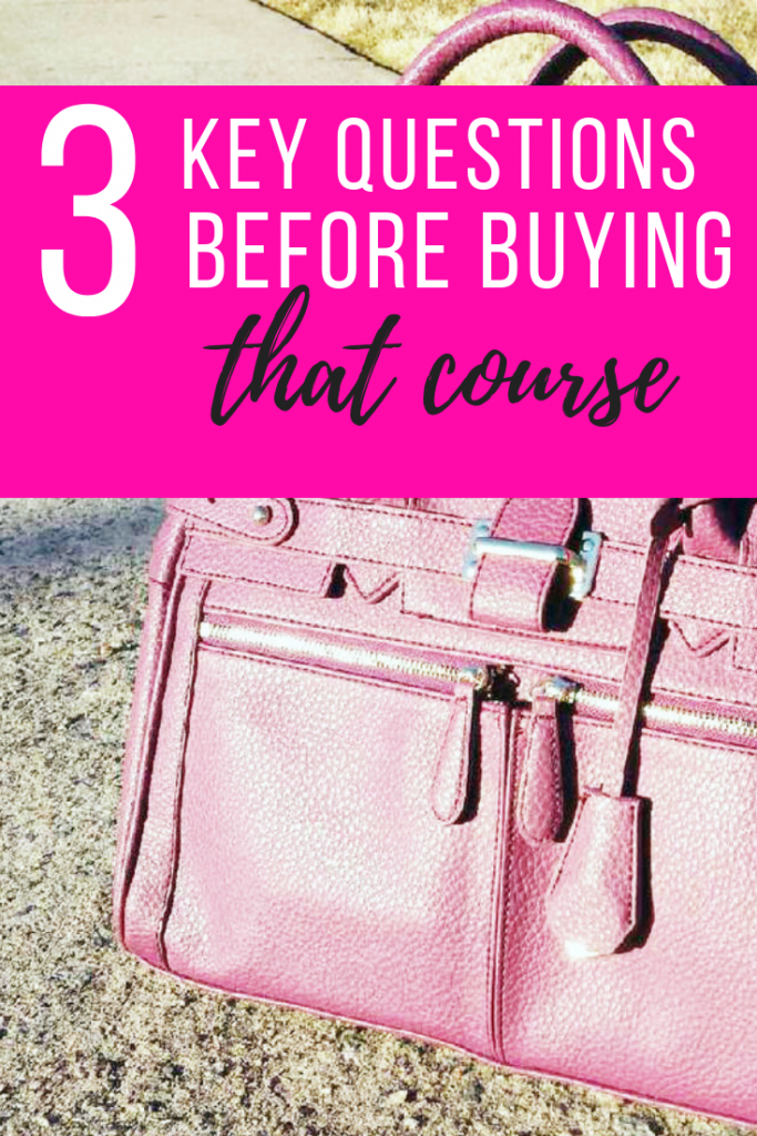 How to decide if buying the e-course is right for you