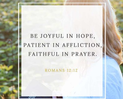 Finding Hope and Patience in Affliction
