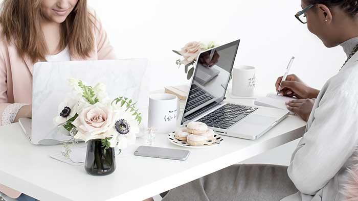 Women busying atwork