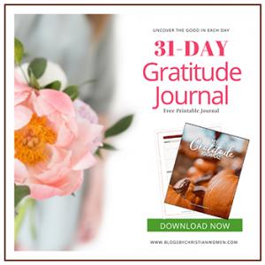 1 Month Gratitude Journal