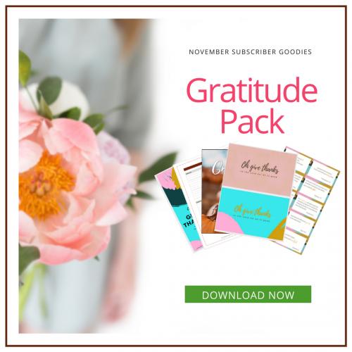 November Subscriber Goodies Pack